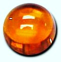 2mm Orange Cabochon